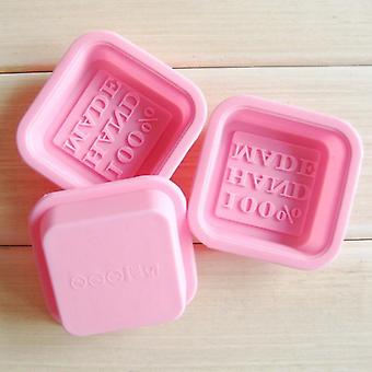 3d Square Shape Design Silicone Soap Mold - Fondant Cake Decorating Mold