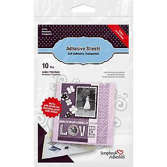 Scrapbook Adhesives Adhesive Sheets 4x6 Inch (10pcs) (01680)