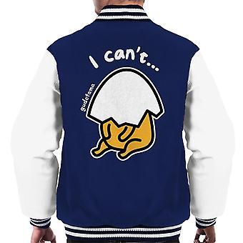 Gudetama Eggshell Head I Cant Men's Varsity Jacket
