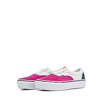 Vans - Shoes - Sneakers - ERA-PLATFORM_VN0A3WLUWVY1 - Unisex - white,deeppink - US 5.5