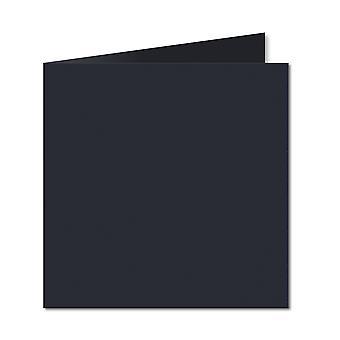Mørkeblå. 153mm x 306mm. 6 tommer Firkantet. 235gsm Foldet kort Tom.