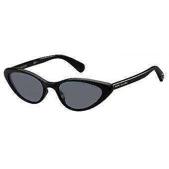 Sunglasses Women's Cat-Eye Black Golden Details