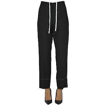 Yohji Yamamoto Ezgl123014 Women's Black Wool Pants