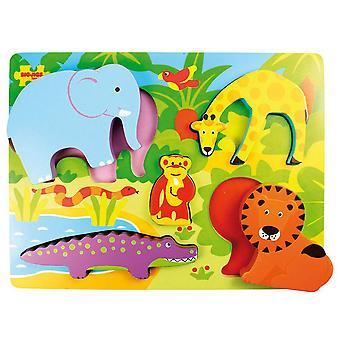 Bigjigs Toys Chunky Lift Out Puzzle Safari