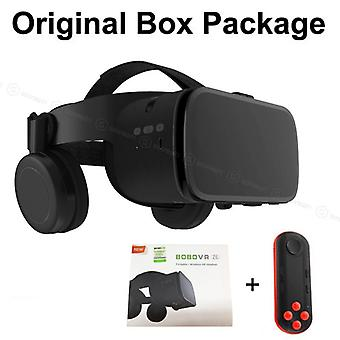 Z6 Wireless Bluetooth 3d-glasses Virtual-reality For Smartphone Immersive Stereo Vr Headset Cardboard For Iphone/android