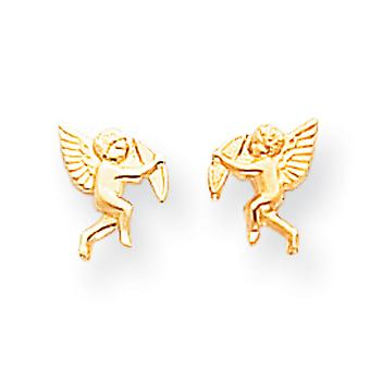 14k Yellow Gold Open back Screw back Post Earrings Polished Cupid Screw back Earrings Measures 8x6mm Jewelry Gifts for W