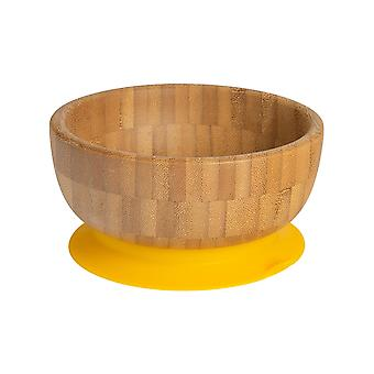Tiny Dining Children's Bamboo Cereal / Dessert Bowl with Stay Put Succion - Jaune