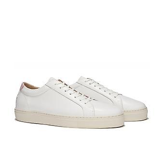 Uniform Standard Series 1 White Vintage Leather Trainers