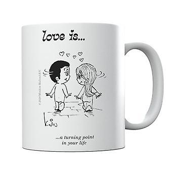 Kærlighed er et vendepunkt i dit liv Krus