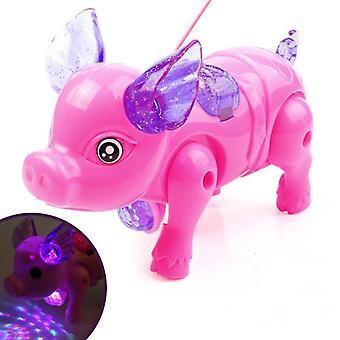 Söpö eläinsuunnittelu sähköinen lelu valolla ja musiikilla