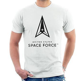 U.S. Space Force Clear Logo Tumma Teksti Men's T-paita
