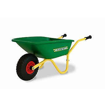 BERG green and yellow dempy wheelbarrow
