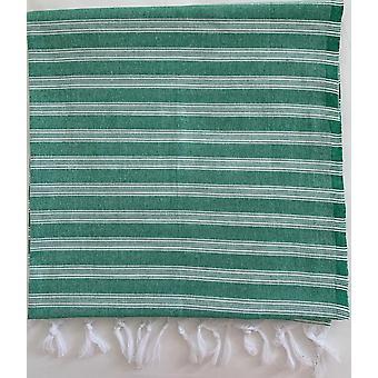 Aqua Perla Ankara2 Serviette turque Vert Peshtemal Cotton