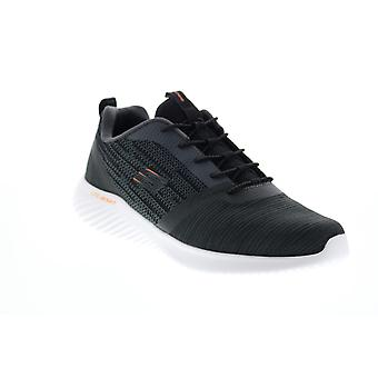 Skechers Bounder Mens Black Canvas Lace Up Lifestyle Sneakers Chaussures