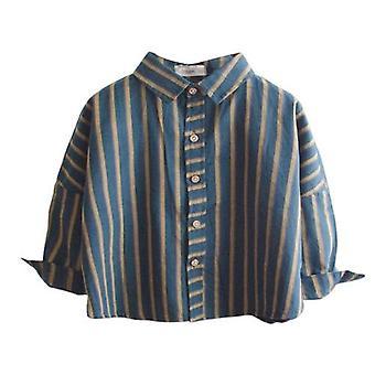 Kevään syksyn paidat Retro, Klassinen Rento Raita, Käytä vaatteita,
