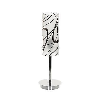 Italux Hello - Moderne Tischleuchte Chrom, weiß 1 Licht mit weißem Farbton, E27