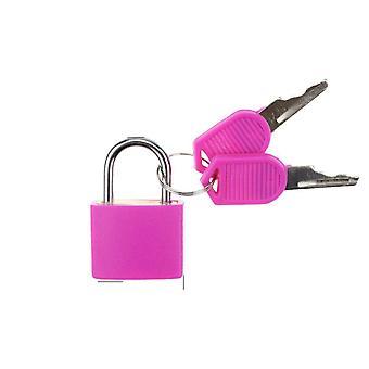 1pcs 30x23mm kleine Mini starke Stahl Vorhängeschloss mit 2 Schlüssel für Reisekoffer,