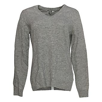 Soft by NAADAM Women's Sweater 100% Cashmere Essential V-Neck Gray A370915
