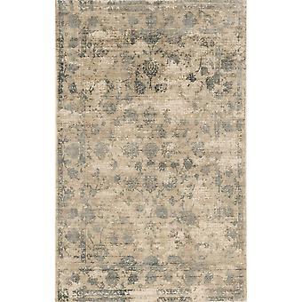 """IND 0805 3'3""""X 5'3"""" / Sand/Blue rug"""