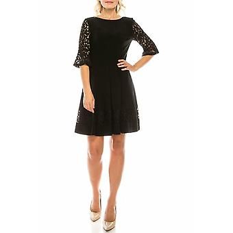 Circle Skirt Dress With Embroidered Lace
