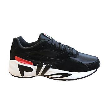 Fila Mindblower أسود أبيض رجال المدربين الدانتيل حتى أحذية الجري 1010574 014