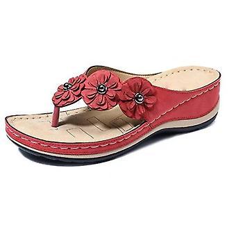 Summer Wedge Vintage Flip Flops Female Casual Sandals