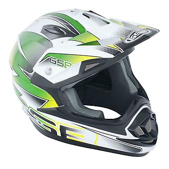 GSB XP-14B Motocross ATV Off-Road Helmet Graphic Green ACU Gold