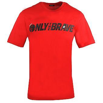 Diesel T-Just-SV nur das tapfere Logo rotes T-Shirt