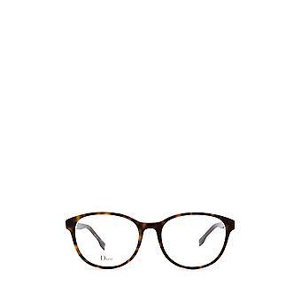 Dior DIORETOILE1 dark havana ivory female eyeglasses