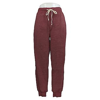 Pantaloni da donna di abbigliamento alternativo Eco Fleece Jogger Pull On Red A343360
