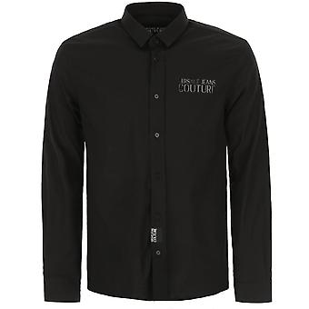 Versace Jeans Couture Glossy Logo Shirt Black