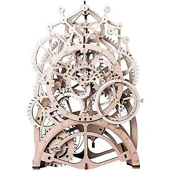 ROBOTIME Pendulum Clock Model Kits Mechanical 3D Puzzle Adults Laser Cut Wooden Construction Jigsaw