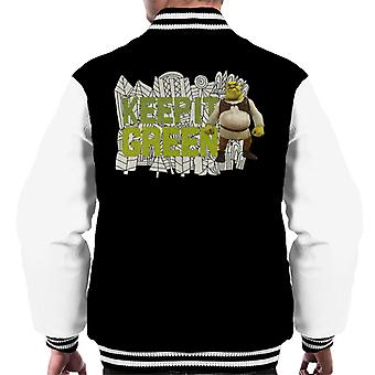 Shrek Keep It Green Men's Varsity Jacket