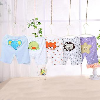 Cartoon Print Baby Shorts, Cotton Baby Summer Unisex Pants