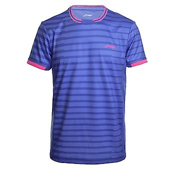 Li-ning Men's Badminton Shirts At Dry Breathable Regular Fit Sports T-shirts