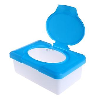 Dry Wet Tissue Papers Case Wipe Napkins Storage Box, Plastic Container