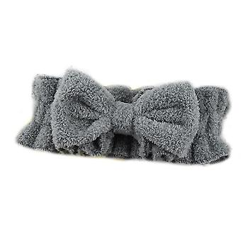 Bow Hair Band Cu Ruffled Elastic Face Wash Headband