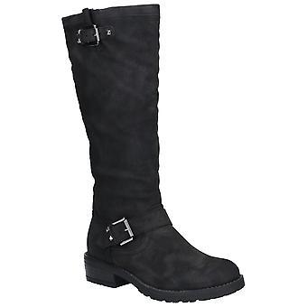 Divaz Courtney Womens Ladies Boots Black UK Size