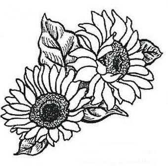 Creative Expressions Sunflower Corner Precut Stamp