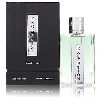 Exception Platinum Eau De Parfum Spray By YZY Perfume 3.4 oz Eau De Parfum Spray