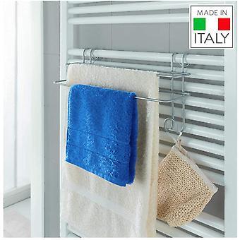 Metaltex Radius Double Towel Rail - Bathroom Towel Holder ideal for Bathroom Radiators.