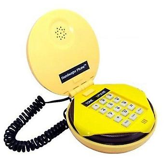Funky Dial Retro Cord Hamburger Telephone Phone Vintage Novelty Gift Kids Home