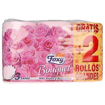 Foxy Bouquet Papel Higiénico Väri & Hajuvesi 3 Capas 6 Rollos Unisex