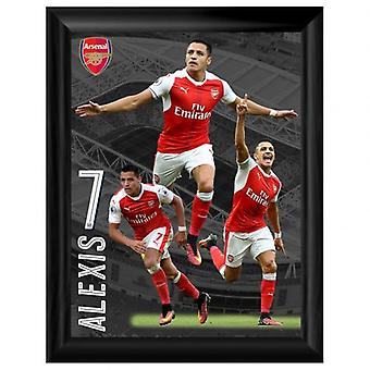 Arsenal Framed Print Sanchez 16 x 12