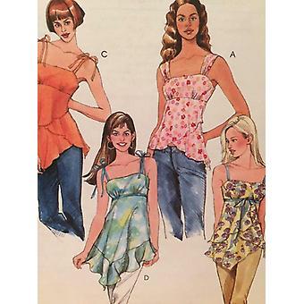 McCalls Sewing Pattern 4873 Ladies Misses Tops Size 4-10 Uncut