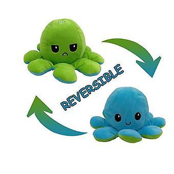 Schattige Octopus Pluche Speelgoed Dubbelzijdig Flip Octopus Doll Zachte Omkeerbare Octopus Gevulde Dierlijke Pop
