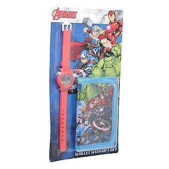 Marvel Avengers Lasten/Lasten kello- ja lompakkosetti