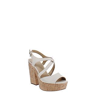 MICHAEL Michael Kors | Abbott Leather Platform Wedge Sandals
