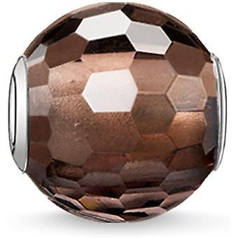 FengChun Damen-Perle Karma Perlen 925 Sterling Silber Rauchquarz braun K0082-031-2