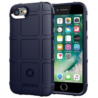 Tpu carbon fiber hoesje voor iphone se 2020 blauw mfkj-1811